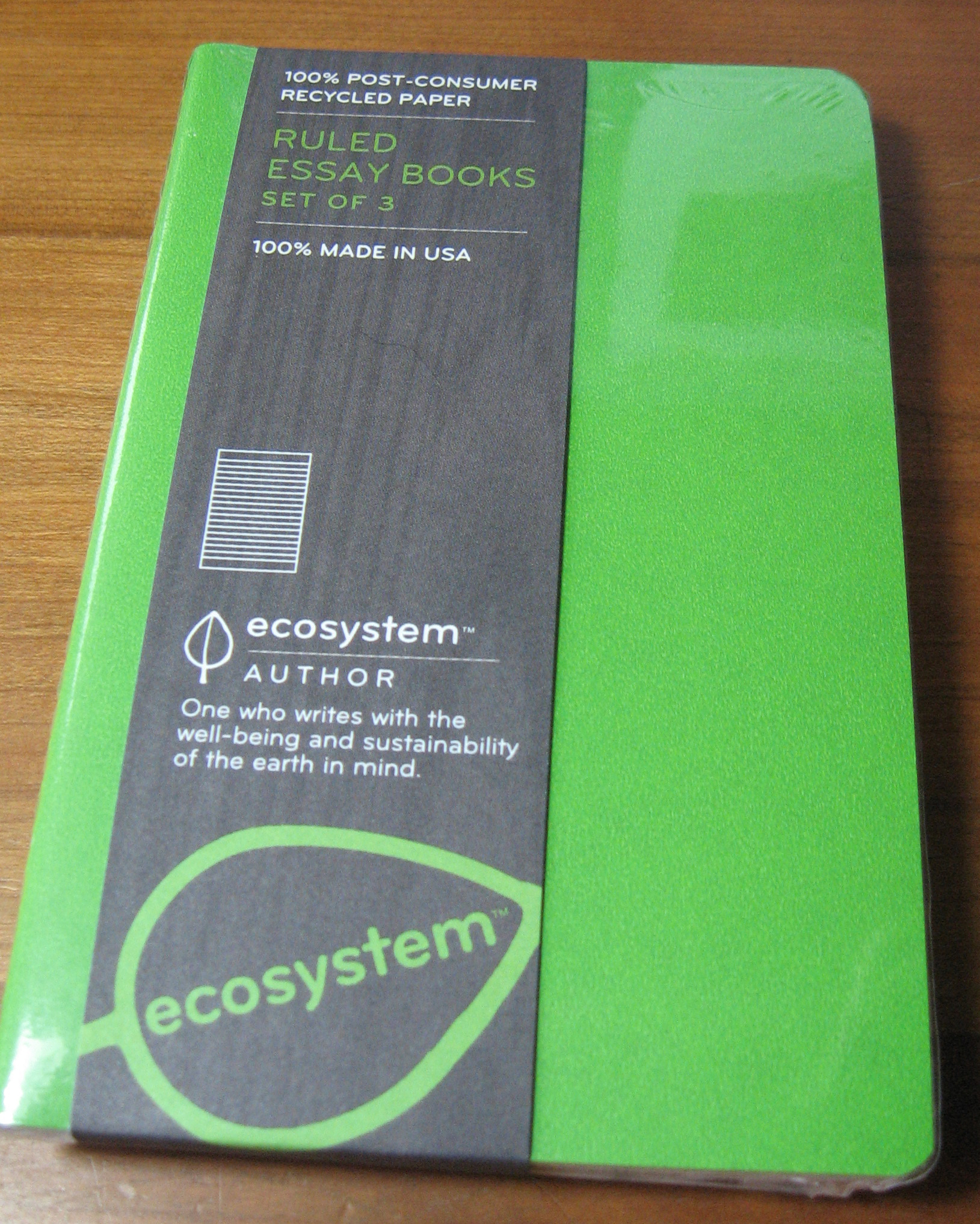 two more eco friendly notebooks peaceable writer ecosystem essay books