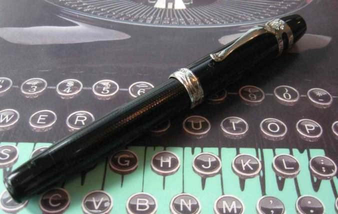 Ragtime Black inked with J. Herbin Perle Noire