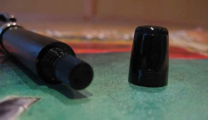 Piston knob exposed