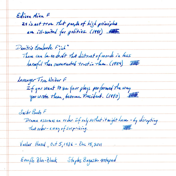 Everflo Blue-Black, Staples Bagasse