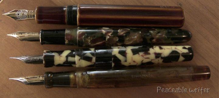 Top to Bottom: Danitrio Sho-Hakkuku, Cumlaude, Newton Slug, Edison Custom