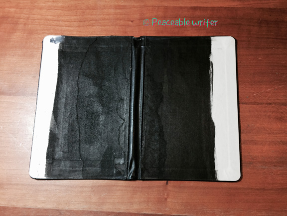 Moleskine painted black kinda sorta