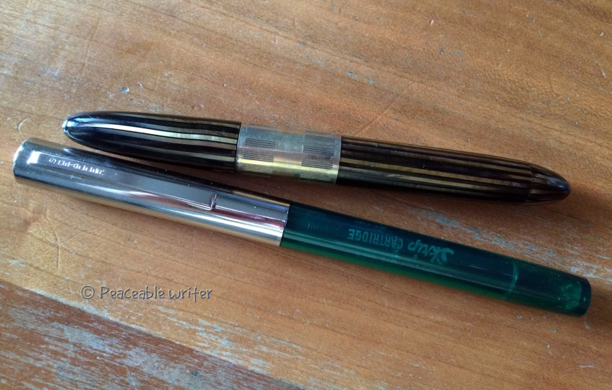 Sheaffer Cartridge pen (circa 1976) and Sheaffer Tuckaway (circa 1932)