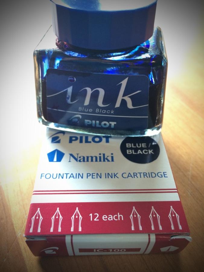 Pilot Blue-Black 30ml bottle, box of Pilot Blue-Black ink cartridges