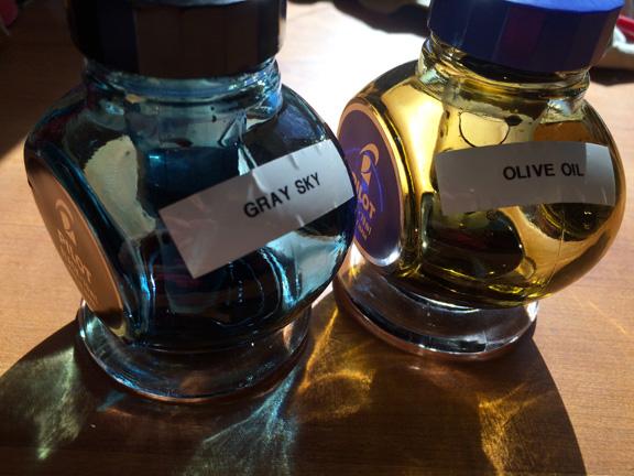 repurposed Pilot 70ml bottles