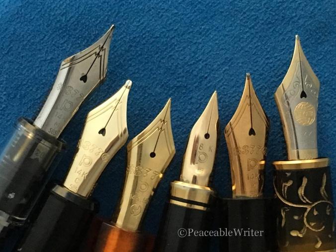 Left to right: Medium, Course, Fine, Fine Spear,