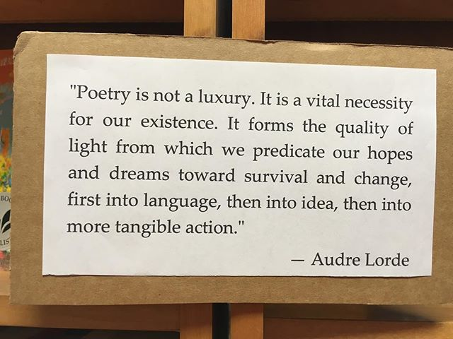 Found this quote at the Unabridged Bookstore in Chicago