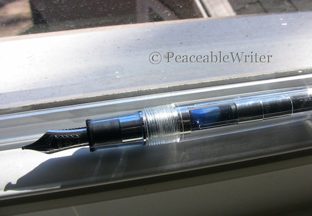 Sailor converter inked with Pilot Blue-Black