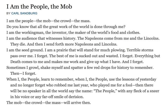 sandburg i am the people